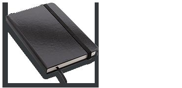Quaderno con elastico formato A6