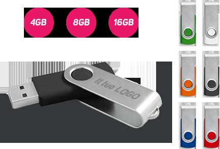 Chiavetta USB Jolly - Stampa Laser